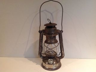 Feuer Hand Hurricane Lamp 275 With Glass Globe W.  Germany photo