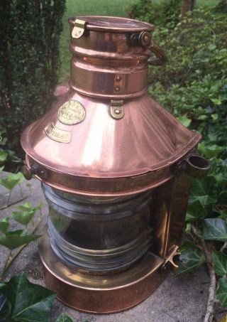 Large Copper Masthead Lamp - Nautical Light - Hop Lee & Co.  - Hong Kong - Old photo