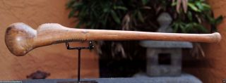 Museum Quality Antique 19th - 20th Century African Knobkerrie War Club 6 photo