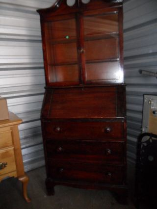 Antique Secretary Desk And Hutch Item To Restore Make Reasonable Offer photo