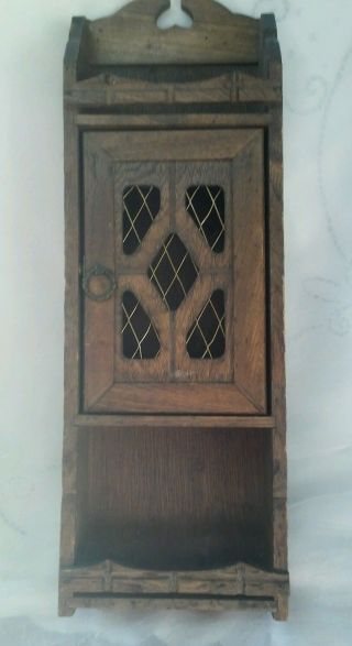 Antique Walnut Display French Cuppard Cabinet 1950s photo