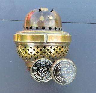 Vintage Brass Duplex Oil Lamp Burner - Prima Brenner Duplex photo