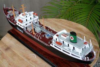 Texaco Oslo Oil Tanker Ship Model - Handmade Wooden Ship Model photo