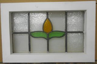 Old English Leaded Stained Glass Window Simple Floral Design 19.  75
