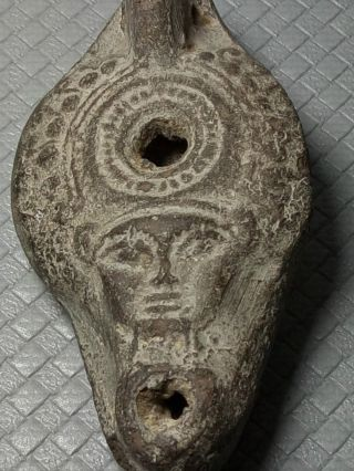 Ancient Roman - Byzantine Clay Oil Lamp photo