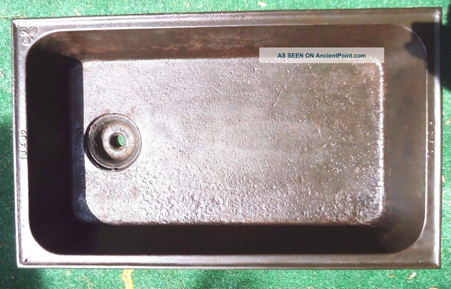 Antique Laundry Sink P.  S.  F.  Co.  30 X 18,  Cast Iron Laundry Sink Embossed Flower Sinks photo