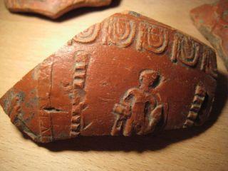 Ancient Roman Terra Sigillata Samian Ware Manufacturer Stamp Inscription Ivte (a) photo