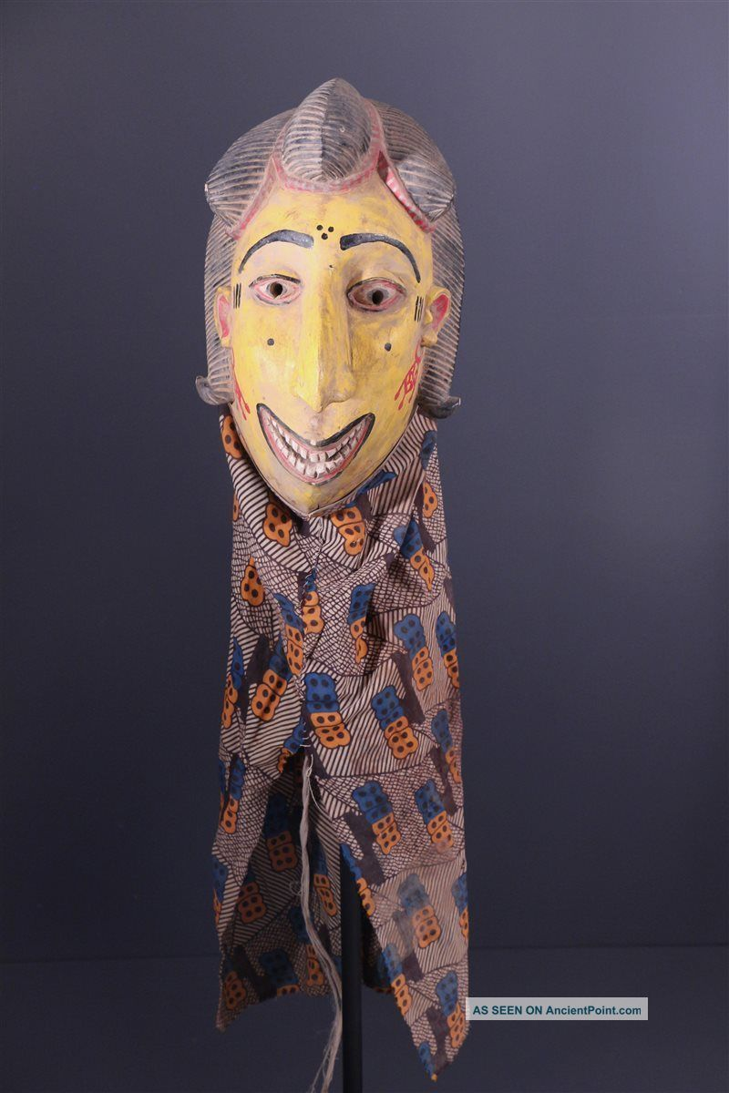 Mali: Large Rare Tribal African Bozo Puppet Mask. Sculptures & Statues photo