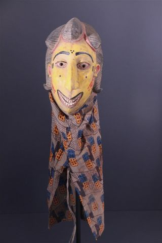 Mali: Large Rare Tribal African Bozo Puppet Mask. photo