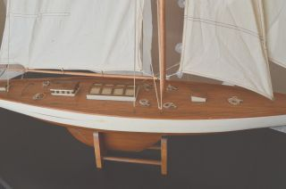Vintage America ' S Cup Yacht,  Wooden Boat Model,  48