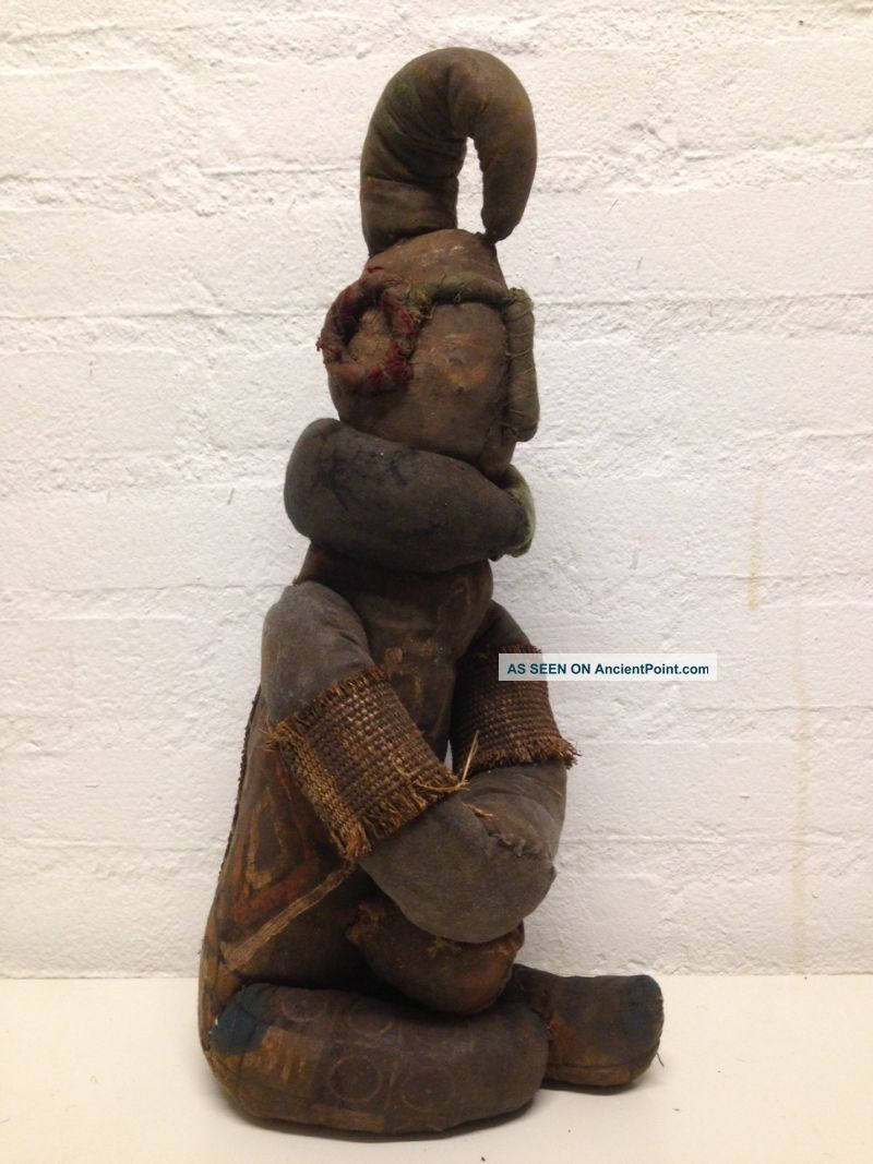Nigeria: Rare And Old Tribal African Ibibio Fetisch Figure. Sculptures & Statues photo