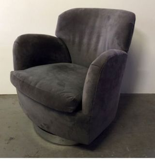Rare Milo Baughman Mid Century Modern Reclining Swivel Club Chair On Chrome Base photo