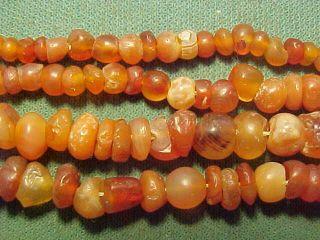 String Roman Carnelian Beads Circa 100 - 400 A.  D. photo