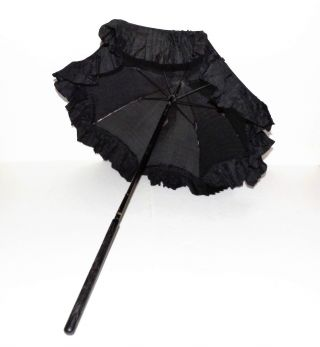 Antique Victorian Umbrella For Baby Carriage Stroller Vintage Folding Parasol photo