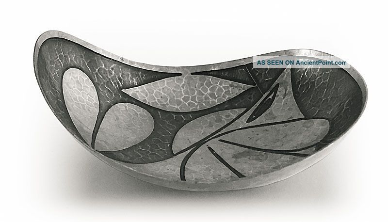Art Deco Modernist Cubist Bowl Cup Fishes Scandinavian Silver Pl 1950 Start $5 Creamers & Sugar Bowls photo