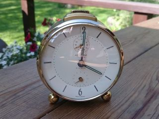 Junghans Trivox Silentic Mechanical Alarm Clock From 60 ' S In. photo