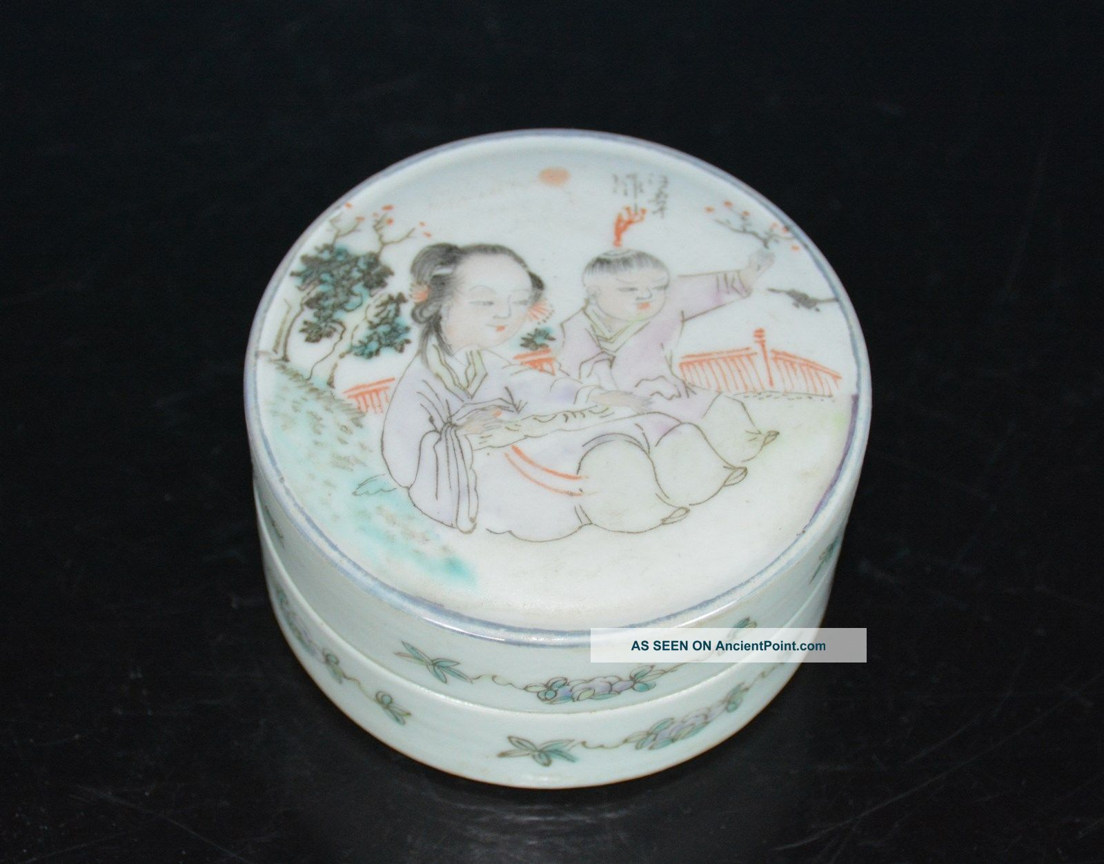 Exquisite Antique Chinese Famille Rose Porcelain Box Marked I2682 Boxes photo
