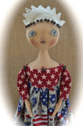 Primitive Folk Art Doll - Lady Liberty - Cheese Creek Primitives photo