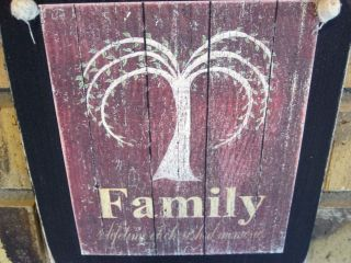Family Willow Tree Hanging Wall Sign Plaque Primitive Rustic Lodge Cabin Decor photo