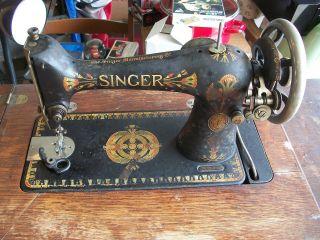 Vintage Singer Treadle Sewing Machine 1904? 6 Drawer Wood Case B1155893 Prepper photo