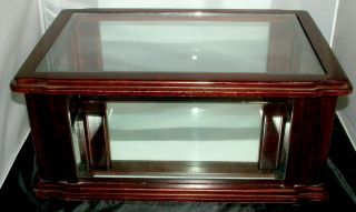 Antique Cherry Wood Glass Store Counter Display Case Jewelry Watch Collectibles photo