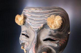 Japanese Handmade Mask Okina Noh Kyougen Kagura Demon Mask Bugaku photo
