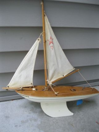 Vintage Staryacht Pond Boat Endeavor Ii Star Mk 2 Birkenhead 16 1/2