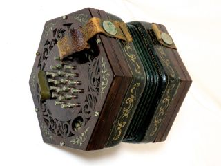 Rare 1870s Antique Concertina By Keith Prowse Co 48 Cheapside London 48 Key photo