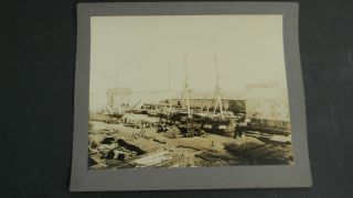 Large Antique Bedford Whaling Ships Photograph - Bark Falcon photo