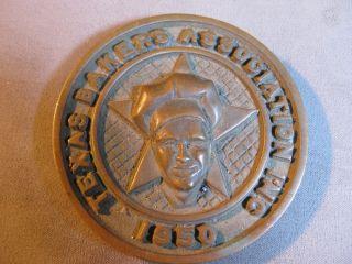 Rare Award From 1950 Texas Bakers Association Inc.  Brass Paper Weight,  Trivet, photo