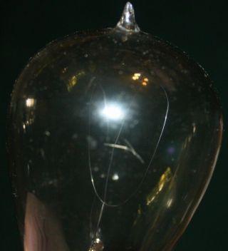 Antique 1900 Pioneer Carbon Filament Light Bulb Thomson - Houston Edison Patent photo