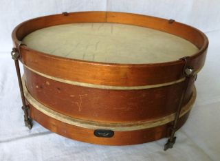 "Snare Drum Wood Vintage Antique 12"" X 4 ½"" 1900 - 15 (?) photo"