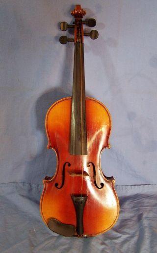 Antique Antonius Stradivarius Childs Violin 3/4 Inlaid Signed Made In Germany photo