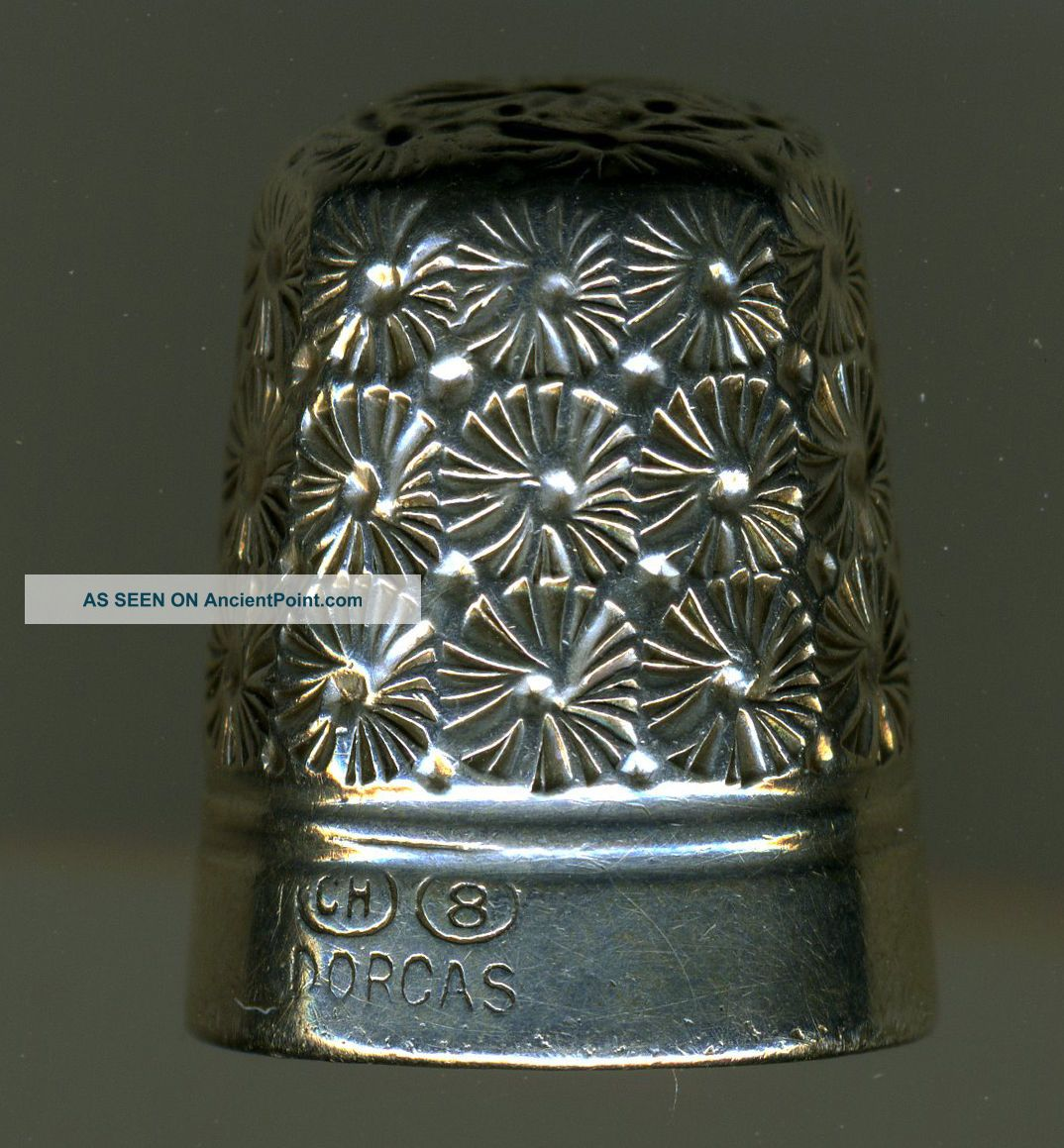 Four Antique Sterling Silver Thimbles: Griffith,  Horner,  Etc. Thimbles photo