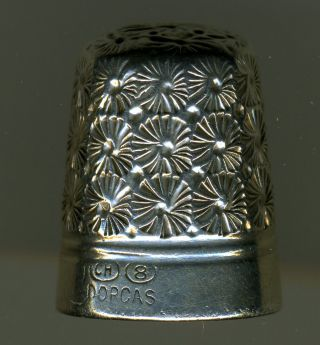 Four Antique Sterling Silver Thimbles: Griffith,  Horner,  Etc. photo