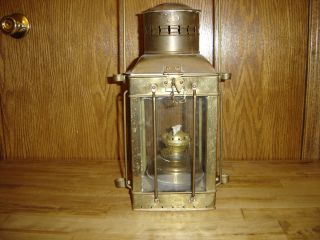 Brass Antique Maritime Neptune Ship Lamp photo