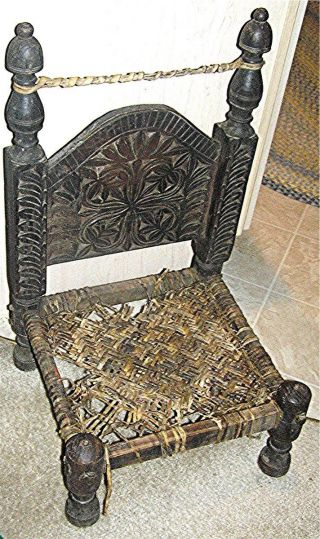 Primitive Antique Chair,  Learn To Cane On This Early 19th Century Antique Chair photo