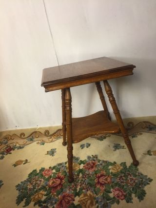Stand Antique Crosscut Solid Oak,  C8pics4size/etc.  Ships Greyhound $79,  Make Offer photo