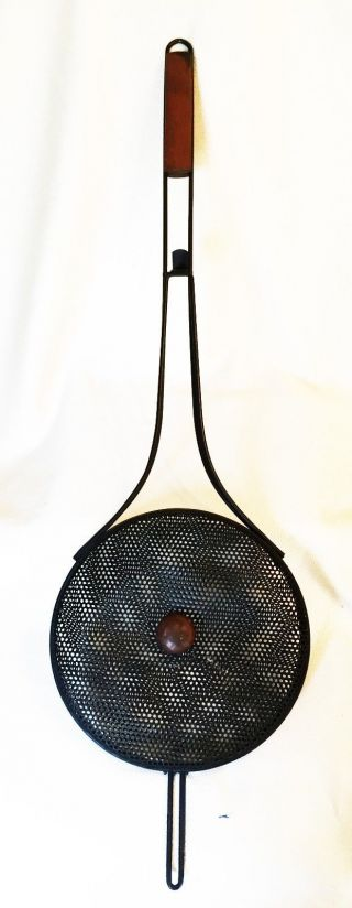 Metal Roaster,  Popcorn Popper,  Bed Warmer,  Hearth Ware Decoration - Very photo