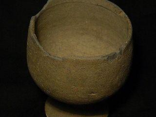 Ancient Teracotta Chalice Gandharan/gandhara 100 Ad S2519 photo