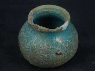 Ancient Glazed Pot Islamic 1200 Ad S4566 photo