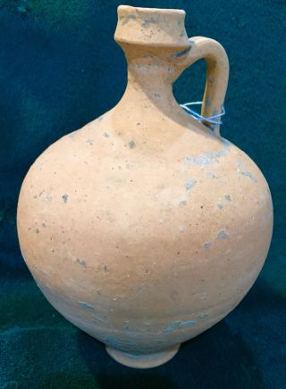 Large Ancient Holy Land Redware Terracotta 1 - 3rd Cent Bc Jug Vessel Artifact photo