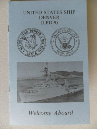 Navy Uss Denver (lpd - 9) Detailed Welcome Aboard 1981 photo