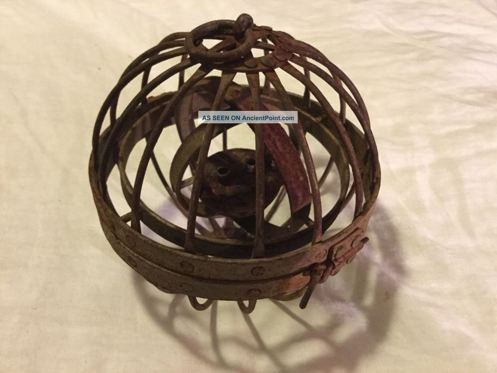 C.  1800s Gimballed Lamp From Whaling Ship - Rare - Nautical Antique - - Ship Equipment photo