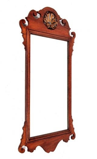 Antique Wall Mirror Chippendale Rosewood Long Mirror Hall 19th Century photo