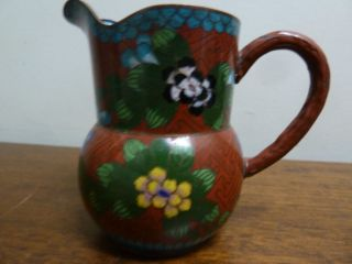Small Chinese Cloisonne Jug Early Mid Century photo