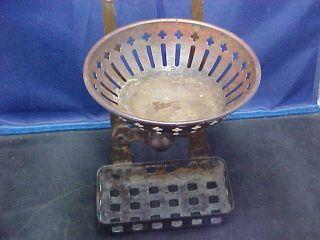 Scarce Brass Claw Foot Bath Tub Soap & Sponge Holder photo
