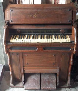 Antique Victorian Child Size Pump Organ photo