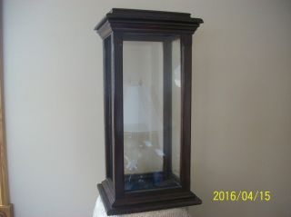 Wooden & Glass Tall Vintage Four Sided Screw Top Display Cabinet photo