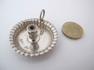 Delightful Silver Miniature Silver Chamber Stick William Comyns London 1891 photo